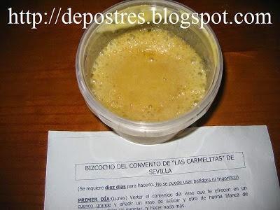 """BIZCOCHO DEL CONVENTO DE """"LAS CARMELITAS"""" DE SEVILLA"""