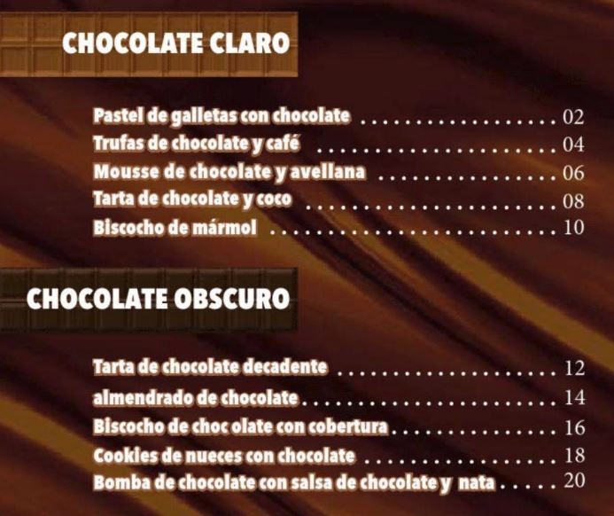 Libro de Recetas Nestle Especial Chocolates