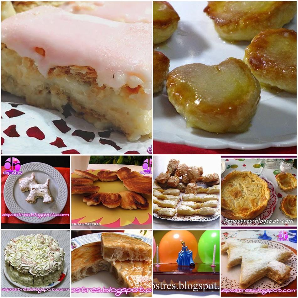 10 Recetas de Postres y Tartas con hojaldre